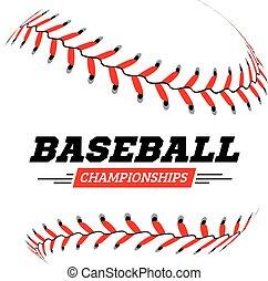 fondo., palla bianca, baseball