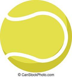 fondo., palla, bianco, tennis, vettore, illustrazione