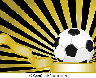 fondo, palla, calcio