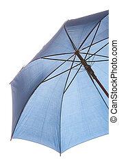fondo., paraguas blanco, aislado