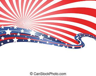 fondo, patriottico, astratto