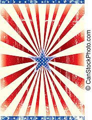 fondo, patriottico, stella