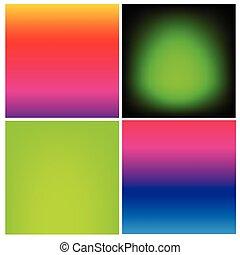 fondo, pendenza, vibrante, liscio, effetto, collezione, colorare, ombra, seta