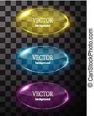 fondo, plane., editable, vetro, vettore, facile, cerchio