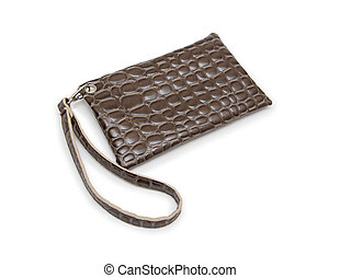 fondo, portafoglio, borsellino, bianco, donna, o