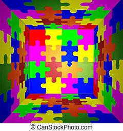 fondo., puzzle, vettore, eps10, astratto