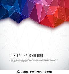 fondo., resumen, geométrico, colorido, 3d