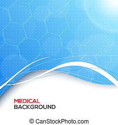 fondo., resumen, médico, moléculas