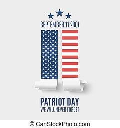fondo., resumen, patriota, día