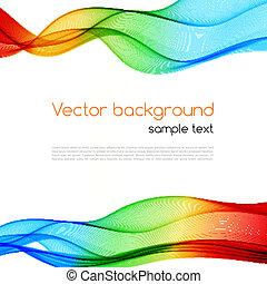 fondo., resumen, wave., colorido, espectro