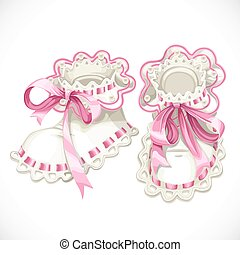 fondo rosa, aislado, recién nacido, saqueos, blanco
