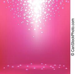 fondo, rosa, astratto, luce