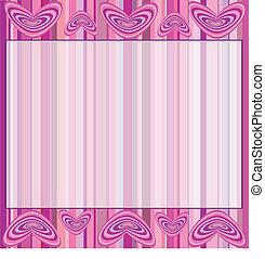 fondo rosa, con, corazones, y, str
