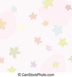 fondo rosa, con, flores