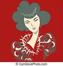 fondo., rosso, bellezza