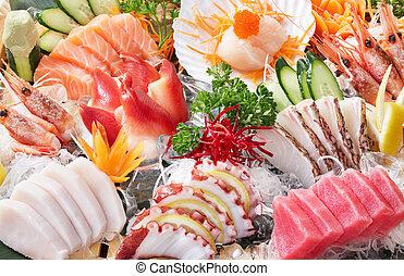 fondo, sashimi