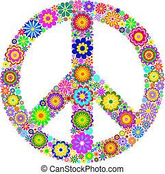 fondo, simbolo, pacifico, bianco