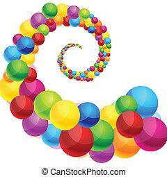 fondo., spirale, colorito