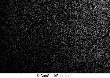 fondo, struttura, cuoio, nero