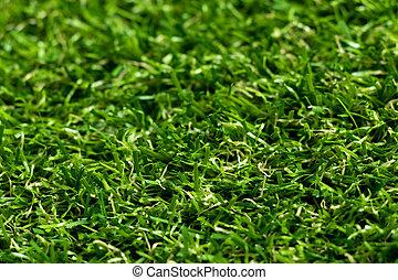 fondo, su, artificiale, verde, chiuso, erba
