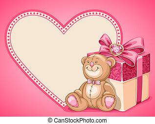 fondo, su, giorno valentines