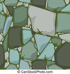 fondo., texture., appartamento, cartone animato, pietre, pietra, vettore, seamless