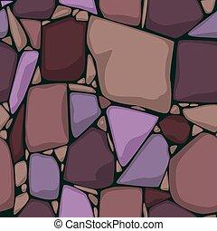 fondo., texture., colorato, cartone animato, pietre, pietra, vettore, seamless