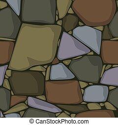 fondo., texture., colorato, pietre, pietra, vettore, seamless