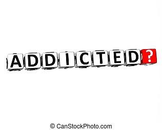 fondo, toxicomano, 3d, parola, bianco