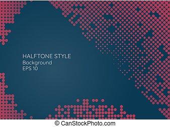 fondo, tuo, moderno, minimo, testo, halftone, spazio, stile