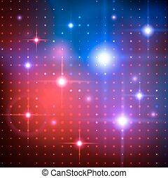 fondo., vector, lights., disco