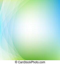 fondo verde, con, línea