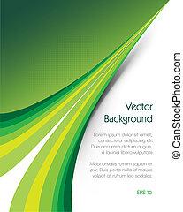 fondo verde, folleto