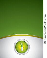 fondo, verde, medico