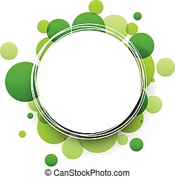 fondo., verde, rotondo