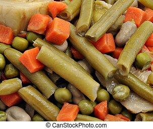 fondo, verdura