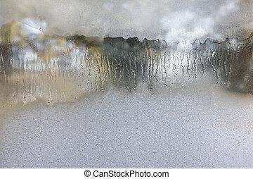 fondo., vetro., inverno, frosted