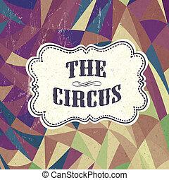 fondo, vettore, circo, retro