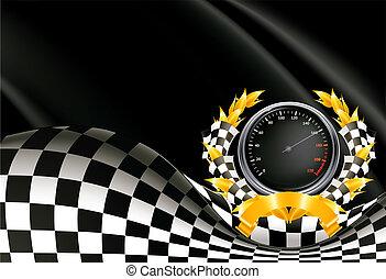 fondo, vettore, da corsa