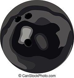 fondo, vettore, isolato, no, illustrazione, realistico, giocare bocce palla