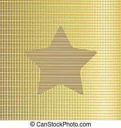 fondo., vettore, stella, oro