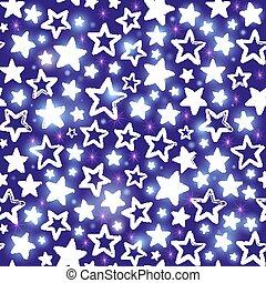 fondo, viola, modello, seamless, stelle, lucente