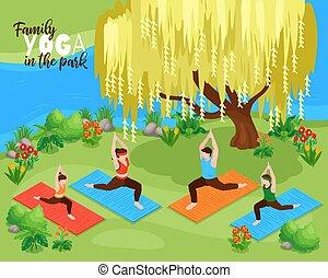 fondo, yoga, famiglia
