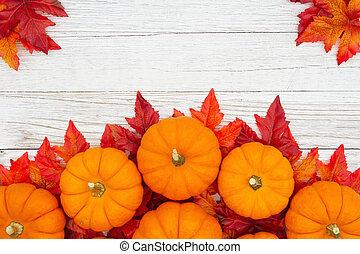 fondo, zucche, arancia parte, imbiancare, legno, cadere, textured, alterato