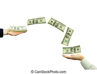 fondos de la transferencia