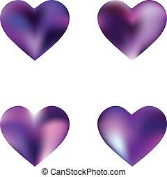 fondos, hearts., chromatic, kit