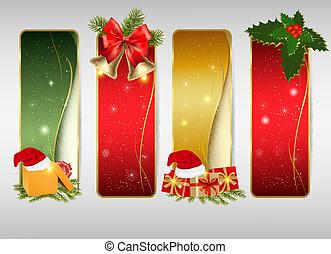 fondos, navidad, conjunto, invierno