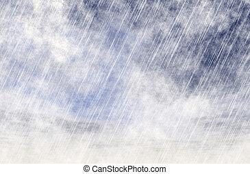 fondos, nublado, lluvia, tiempo, niebla, tormenta