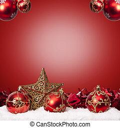 fonds, mit, traditionelle , weihnachtsdeko, und, weihnachten, feiertage