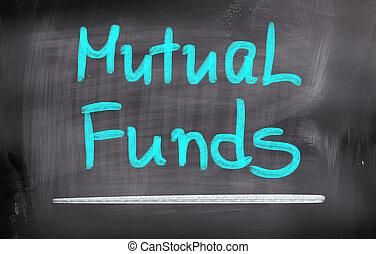 fonds, mutuel, concept